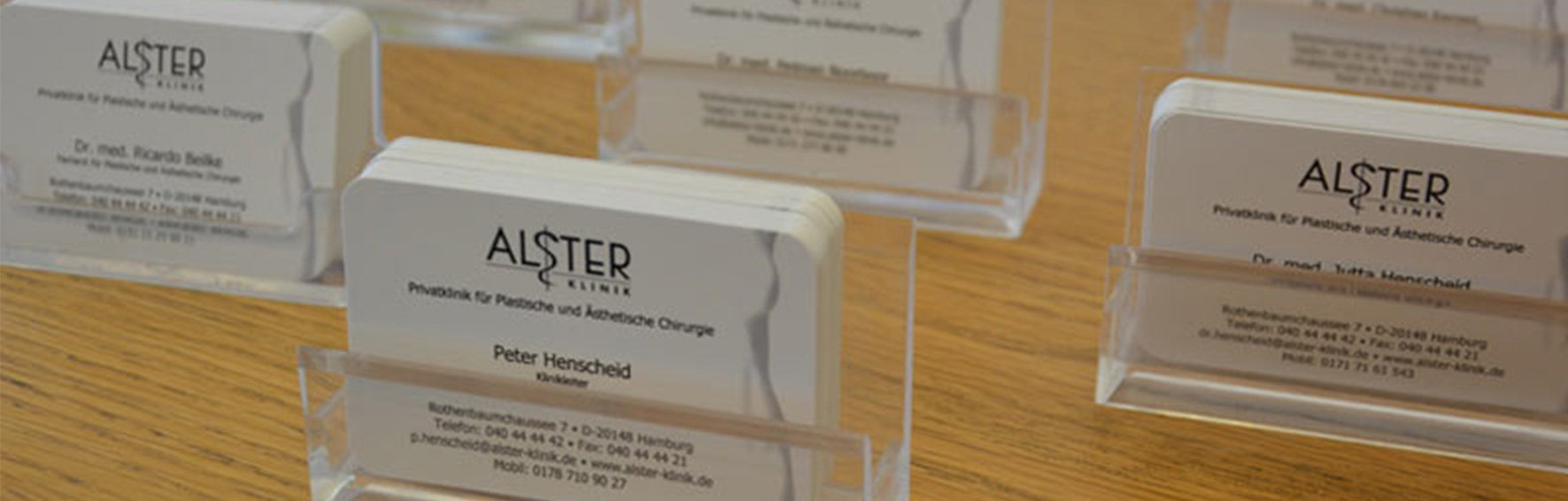 Alster-Klinik Visitenkarte Dr. Henscheid