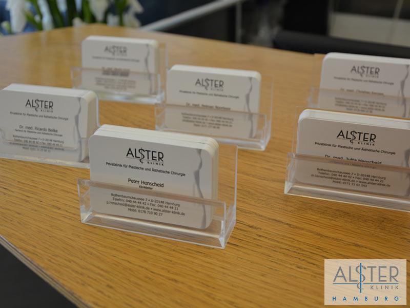 Visitenkarten Alster-Klinik Hamburg